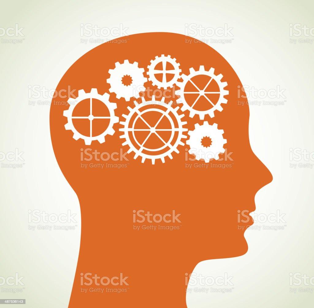 gears design gears skin over beige background vector illustration Beige stock vector