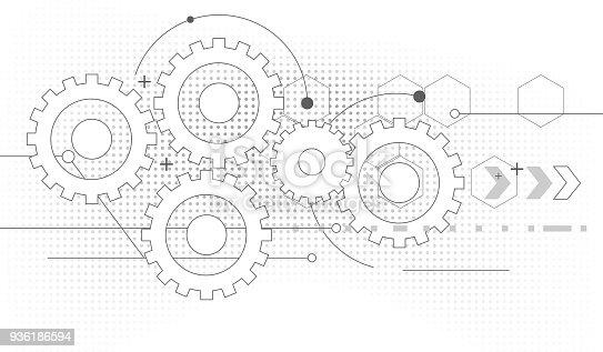 istock gears drawing 936186594