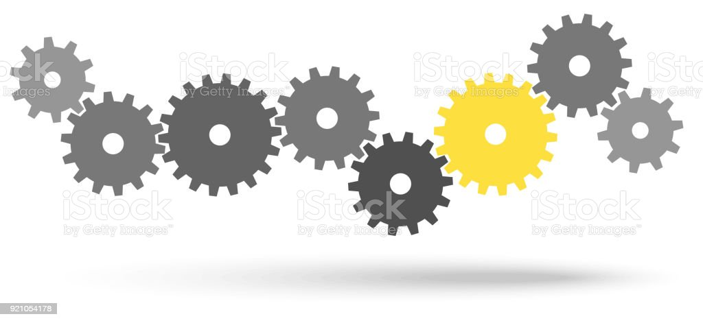 gears for cooperation symbolism royalty-free gears for cooperation symbolism stock illustration - download image now