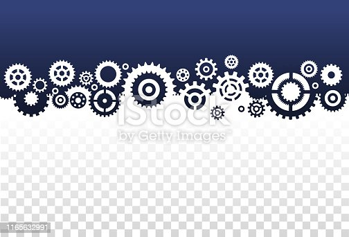 border frame template made of gears