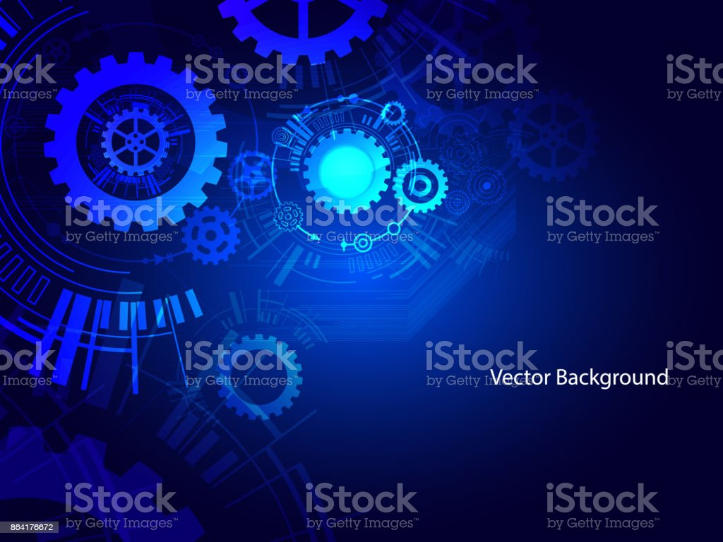 Gears group in blue royalty-free gears group in blue stock vector art & more images of art
