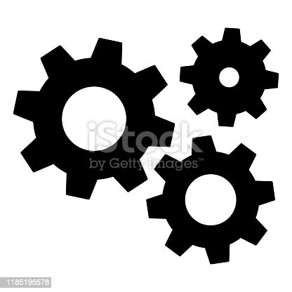 Gears icon settings , for mobile applications web sites etc. Vector illustration .