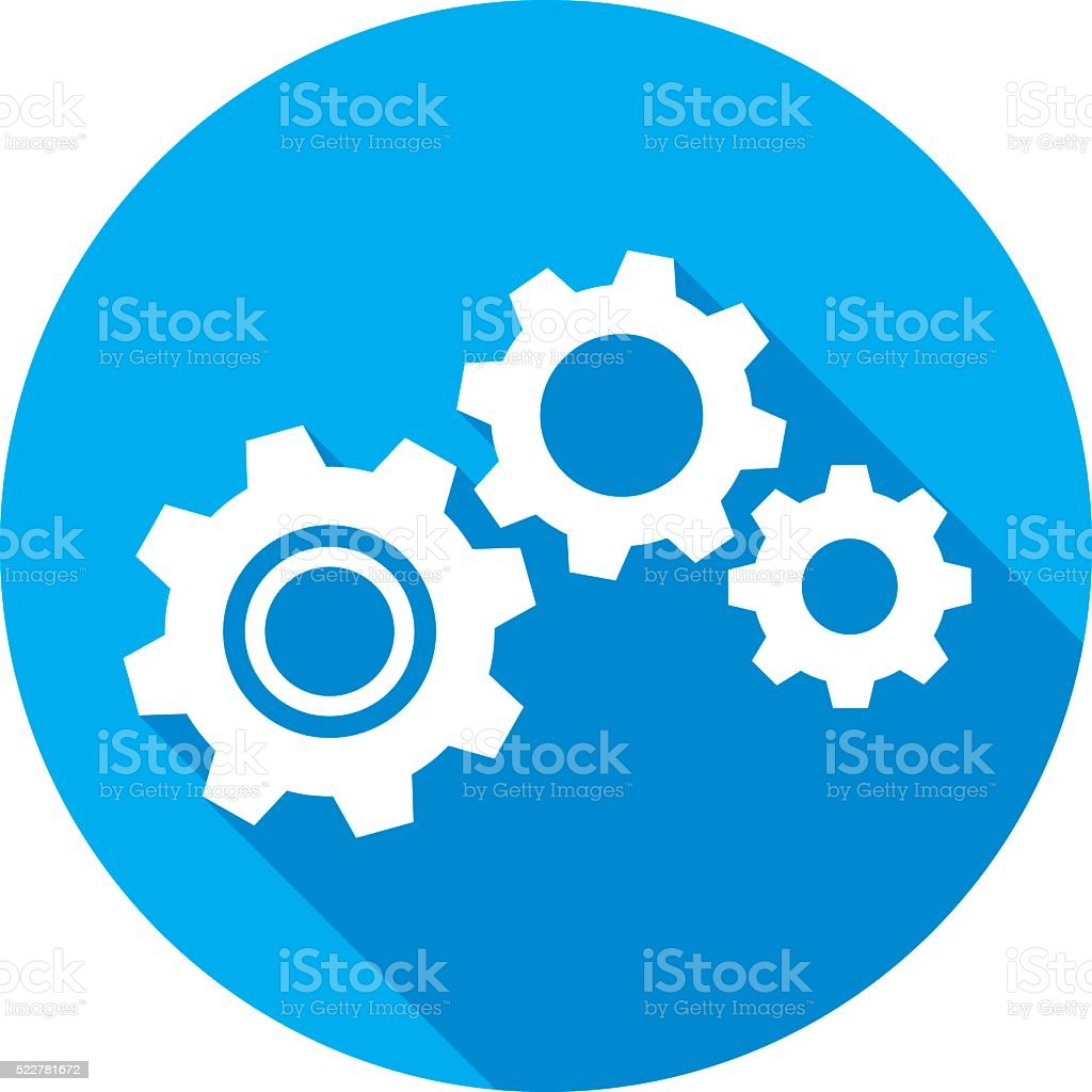 Gears Icon Silhouette vector art illustration