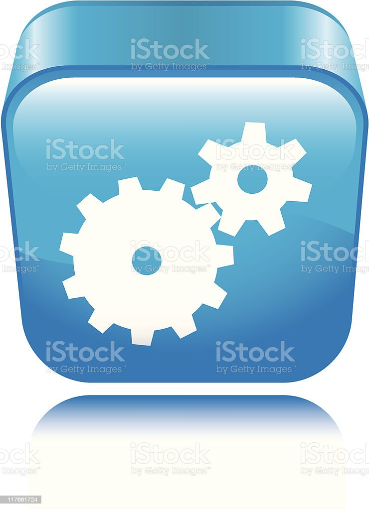 Gears Icon royalty-free stock vector art
