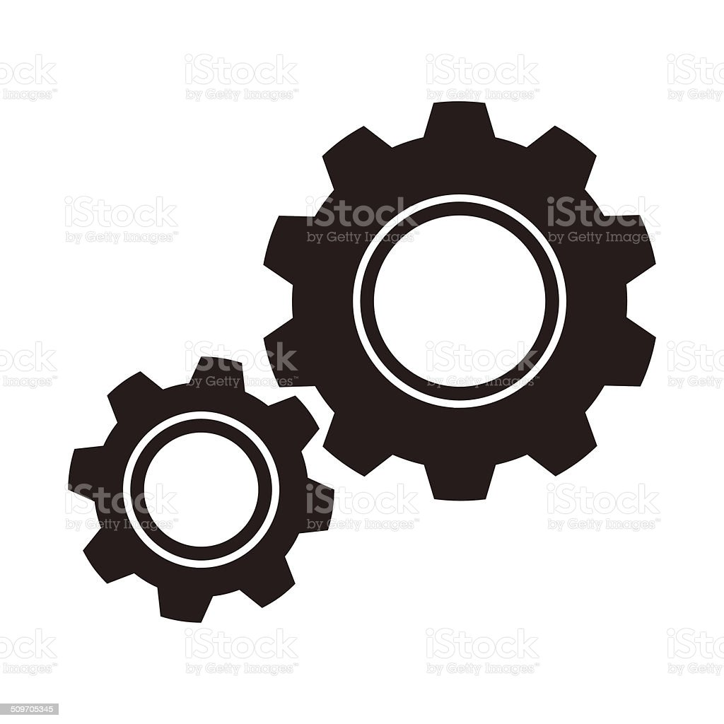 Gears (cogs) icon vector art illustration