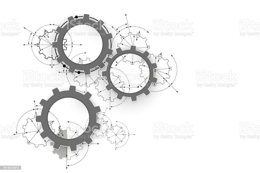 Engranajes En Compromiso Ingeniería Dibujo Industrial Antecedentes ...