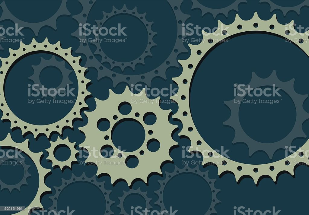 Gears in Flat Style vector art illustration