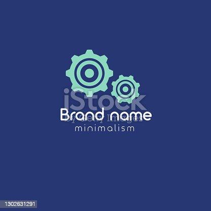 istock gears logo concept.minimalism vector illustration 1302631291