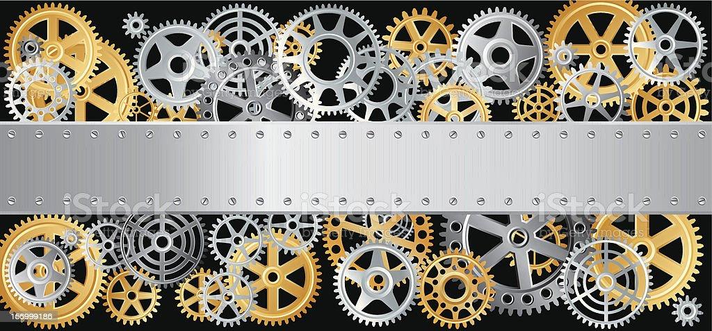 gears long plate royalty-free stock vector art