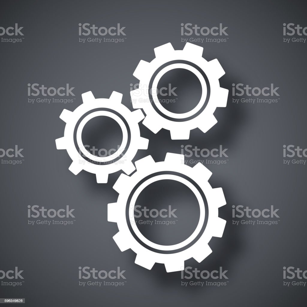 Gears or settings icon, stock vector royalty-free gears or settings icon stock vector stock vector art & more images of dark