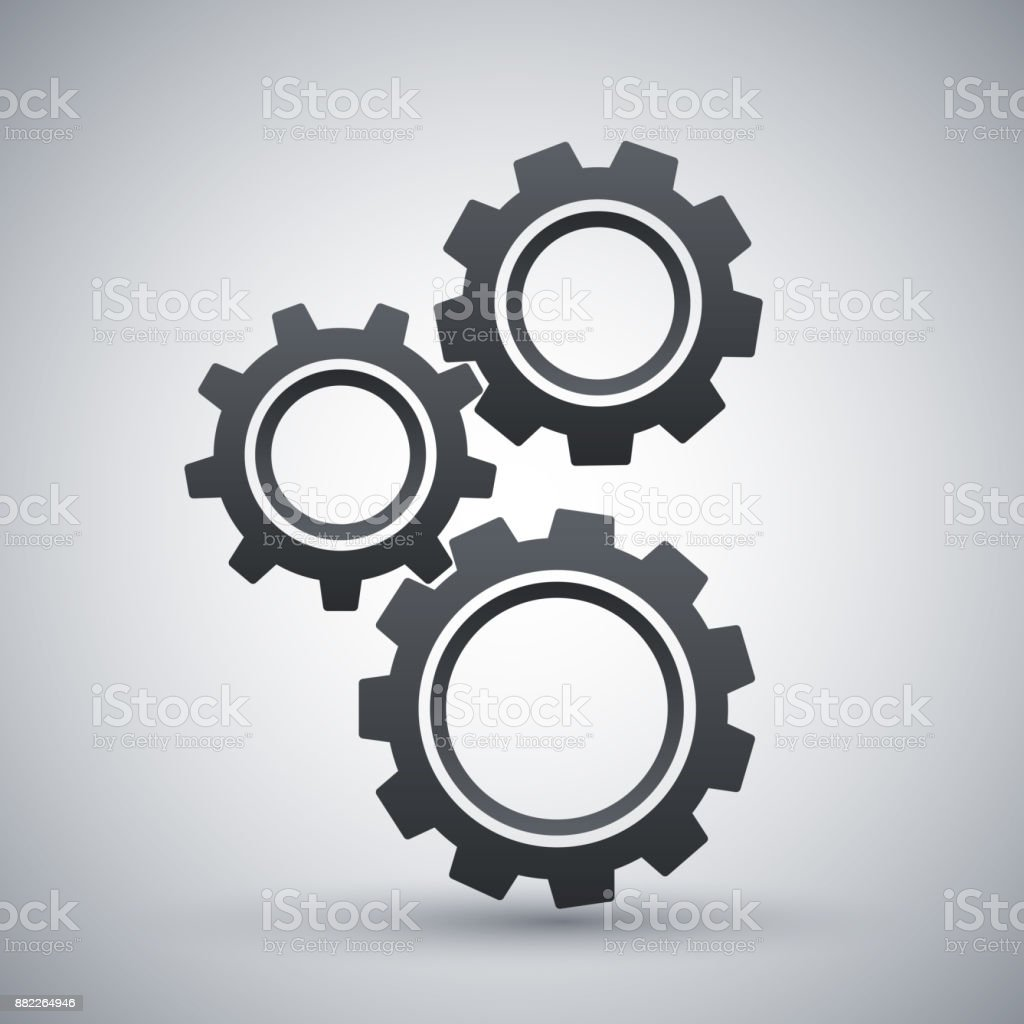 Gears or settings icon, stock vector royalty-free gears or settings icon stock vector stock illustration - download image now