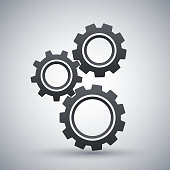 Gears or settings icon, stock vector