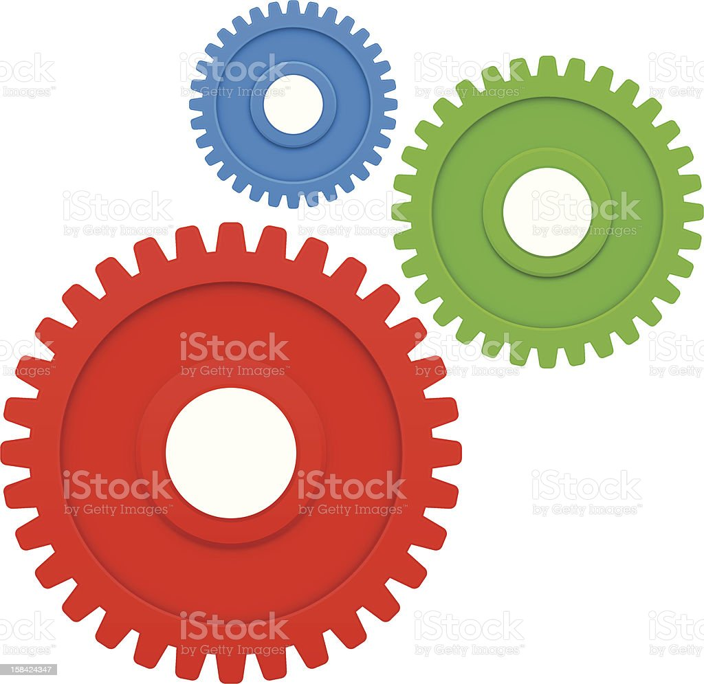 Gears, RGB Concept royalty-free gears rgb concept stock vector art & more images of activity