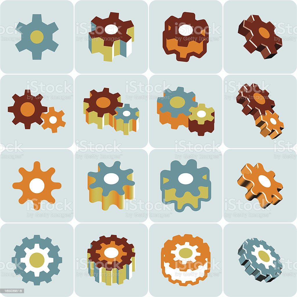 gears symbol royalty-free stock vector art