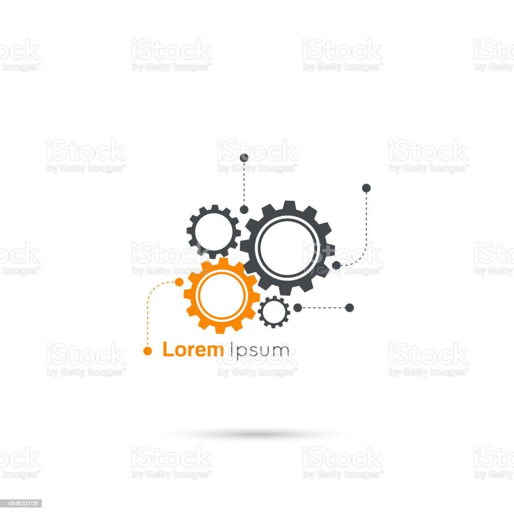 Simbolo di ingranaggi - illustrazione arte vettoriale