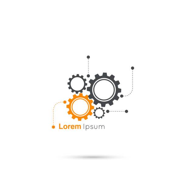 Gears symbol vector art illustration