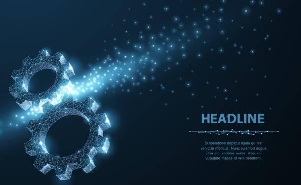 Gears. vector art illustration
