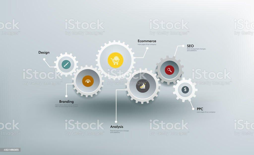 Gears vector art illustration