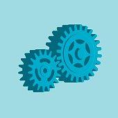 Vector illustration of gears.