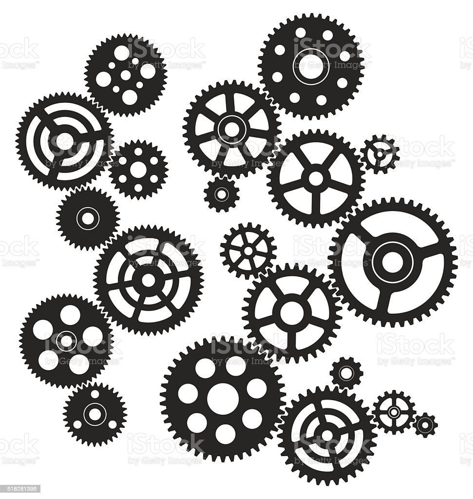 Ingranaggi - illustrazione arte vettoriale