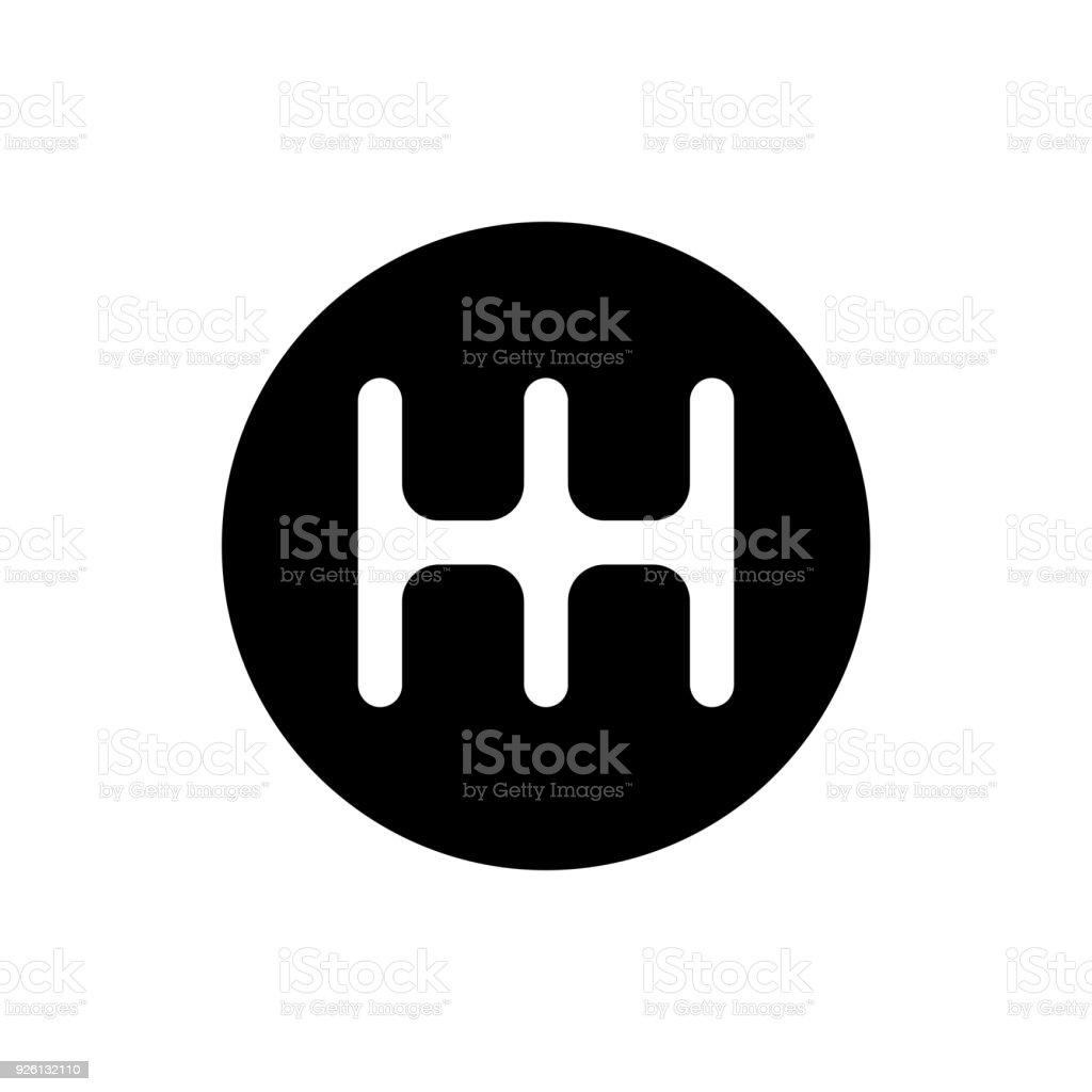 Schaltung Getriebe Hebelsymbol Stock Vektor Art und mehr Bilder von ...