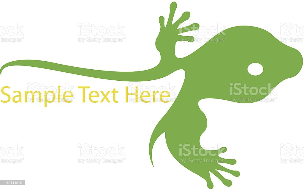 Gecko design royalty-free stock vector art