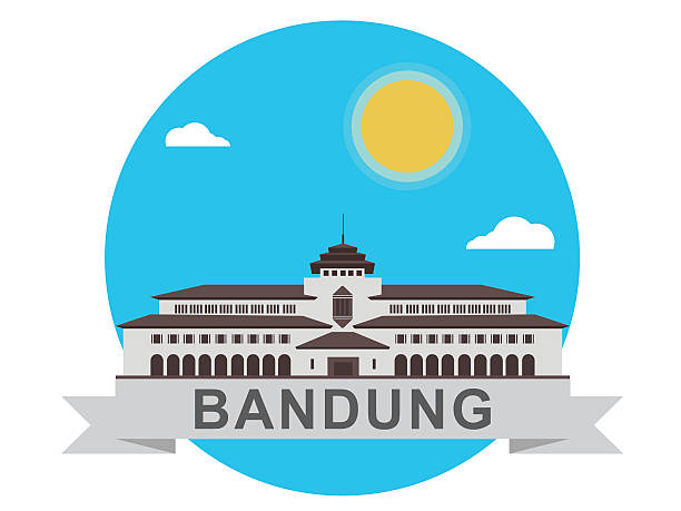 gedung sate icon - gedung sate stock illustrations, clip art, cartoons, & icons
