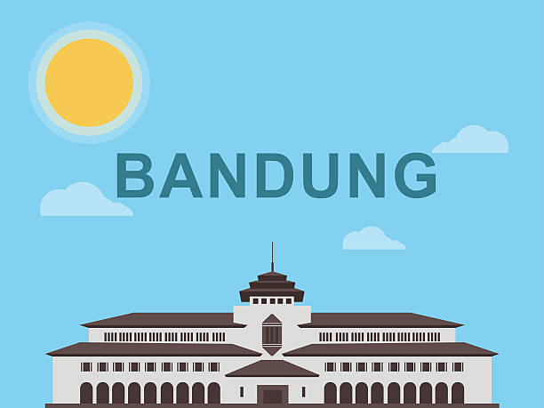 gedung sate illustration - gedung sate stock illustrations, clip art, cartoons, & icons