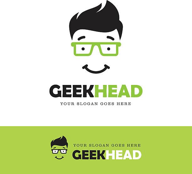 geek gesicht-symbol - uncool stock-grafiken, -clipart, -cartoons und -symbole