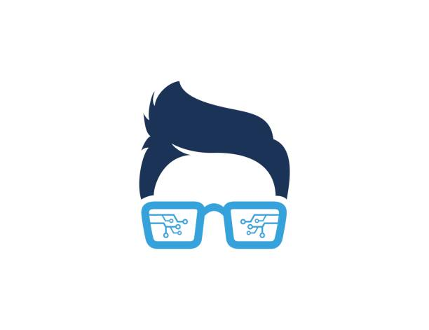 Geek icon This illustration/vector you can use for any purpose related to your business. nerd stock illustrations