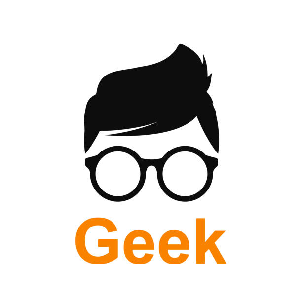 Geek or nerd icon - stock vector Geek or nerd icon - stock vector nerd stock illustrations