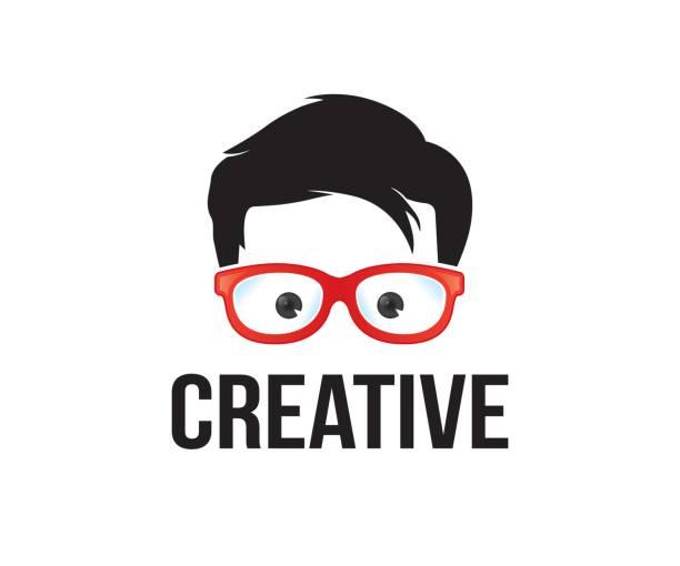 geek vektor icon - markenbrillen stock-grafiken, -clipart, -cartoons und -symbole