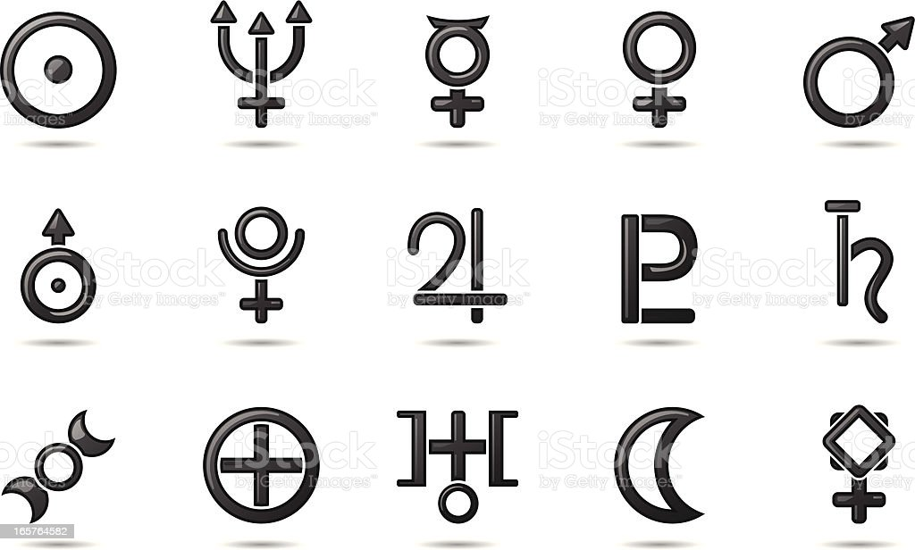 Gel Icons Planetary Symbols Stock Vector Art More Images Of