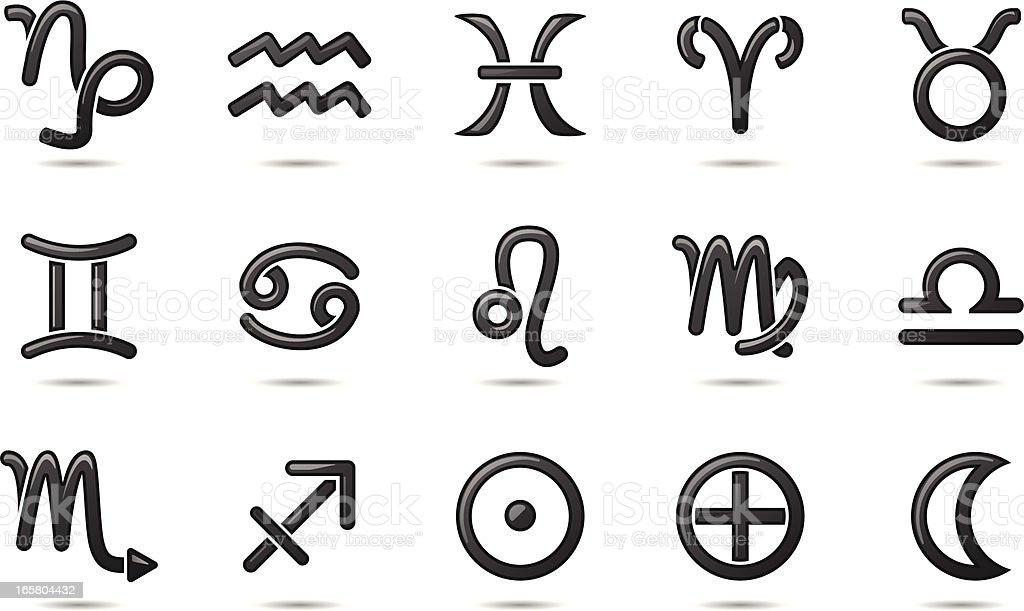 Gel Icons Zodiac Symbols Stock Vector Art More Images Of Aquarius