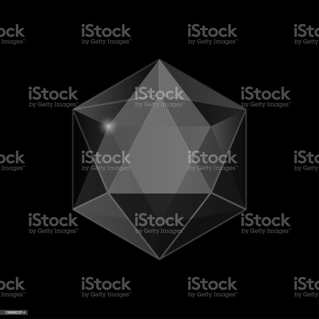 joya, brillante cristal, tallada de piedra - ilustración de arte vectorial