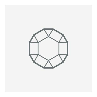 Gem vector icon