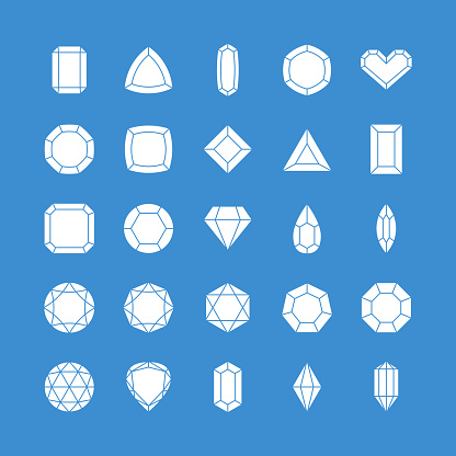 Gem vector icons