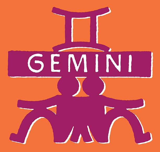 illustrazioni stock, clip art, cartoni animati e icone di tendenza di gemini - gemelle