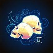 Gemini zodiac vector sign horoscope