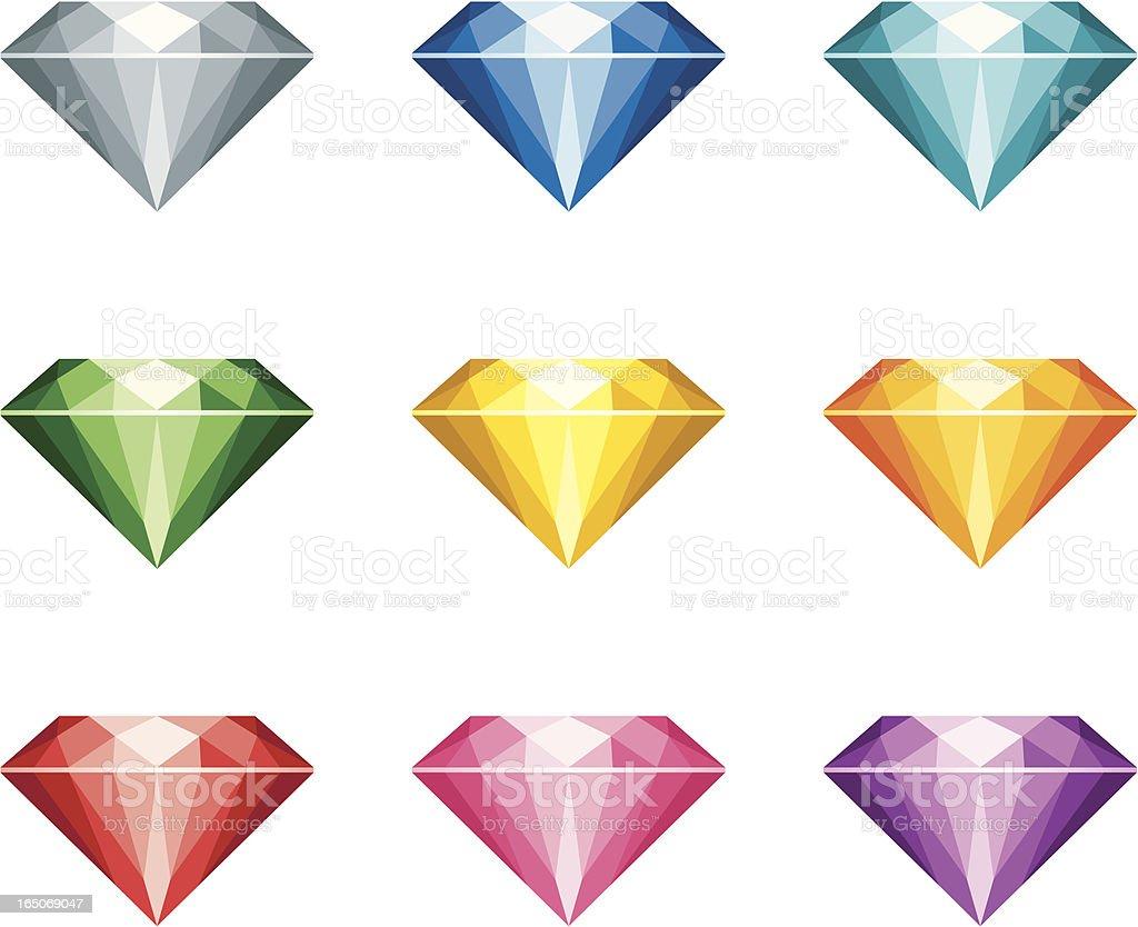 Gems - incl. jpeg royalty-free stock vector art
