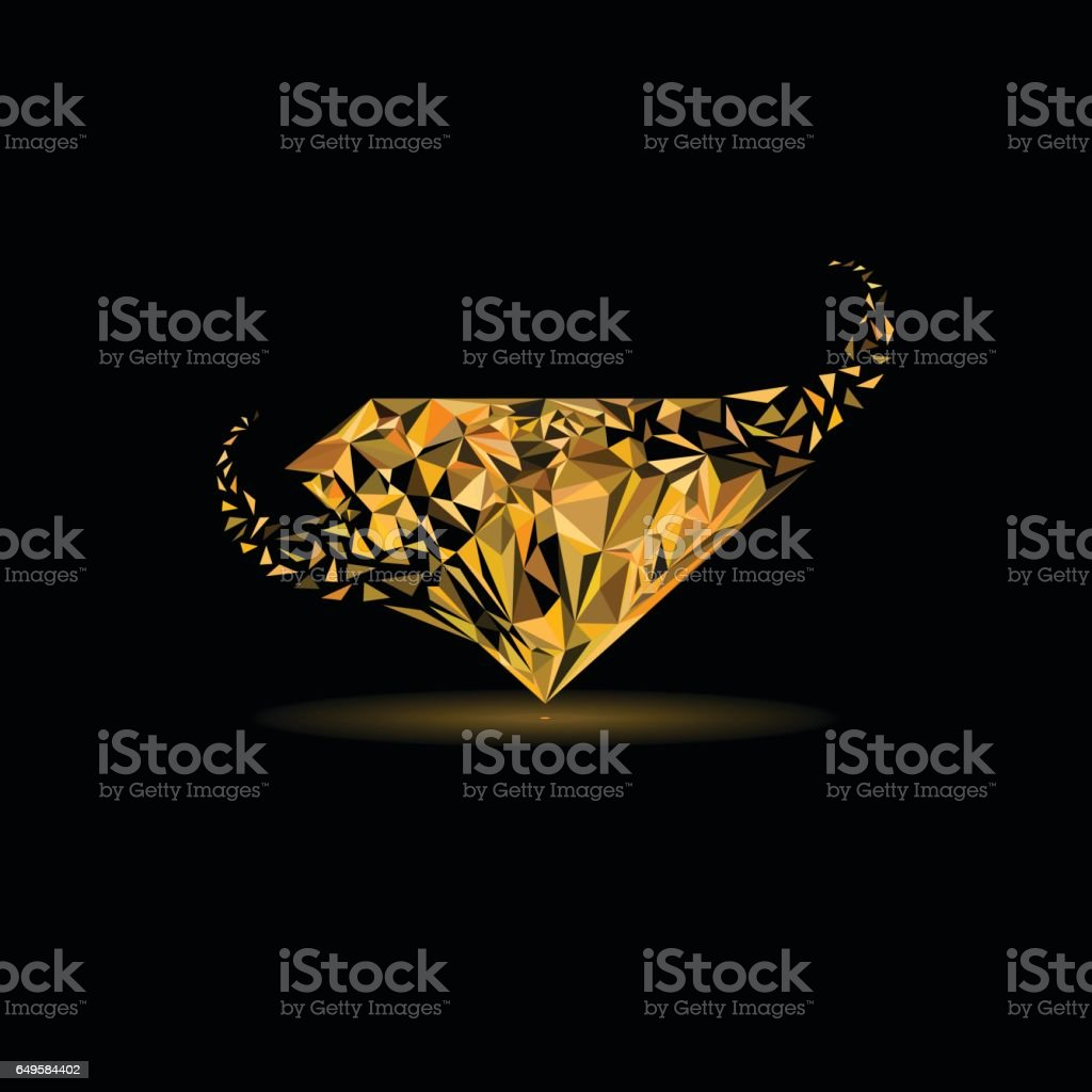 Gems, Jewelry, fashion industries logo design. Broken triangle explode or form to be diamond shape logo. vector art illustration