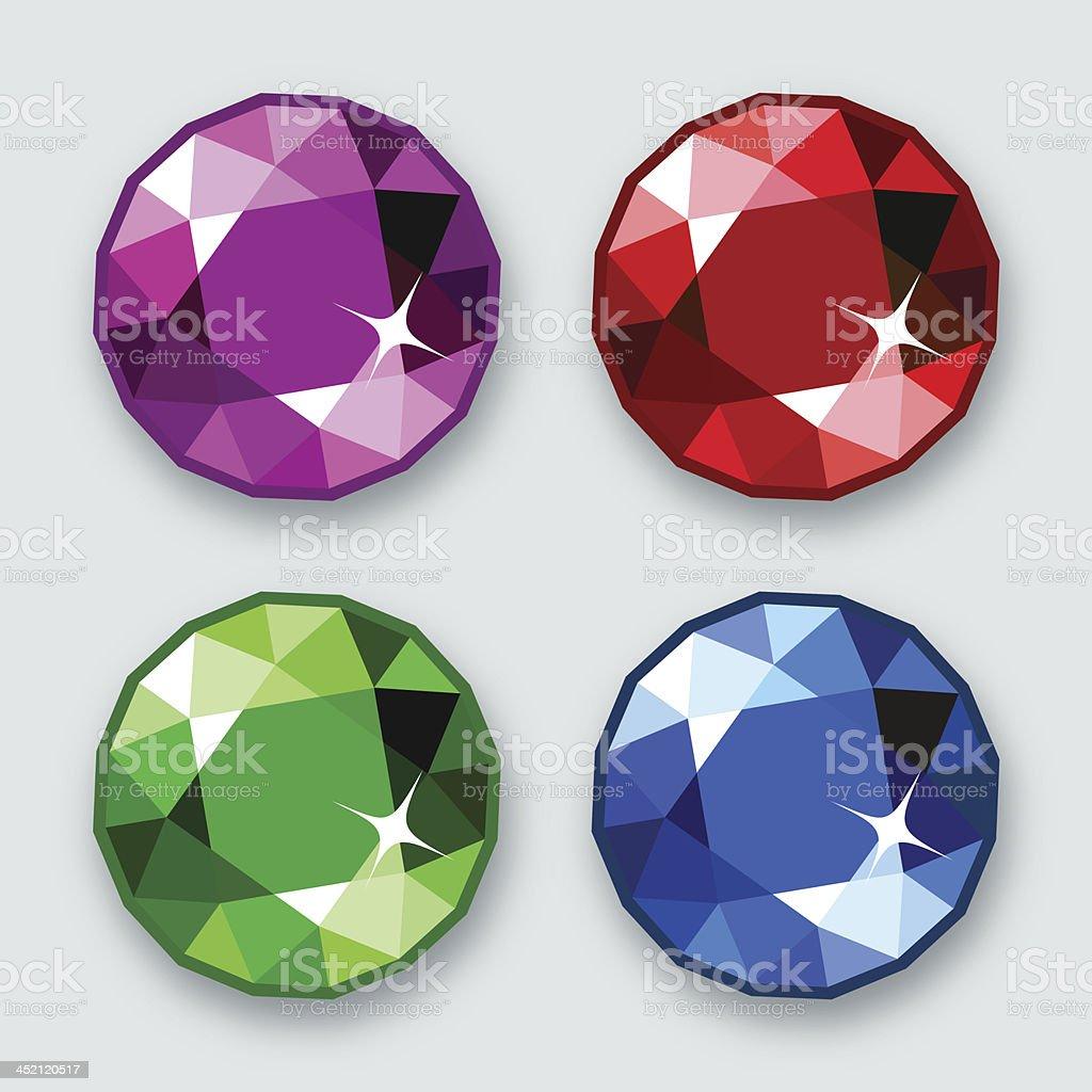 Gems vector art illustration