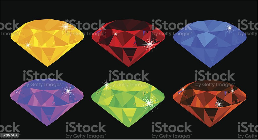 gems royalty-free gems stock vector art & more images of blue