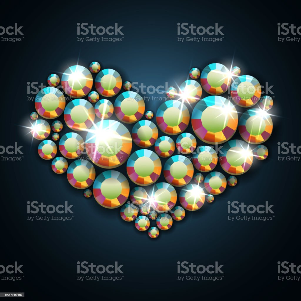 Gemstone heart royalty-free gemstone heart stock vector art & more images of backgrounds