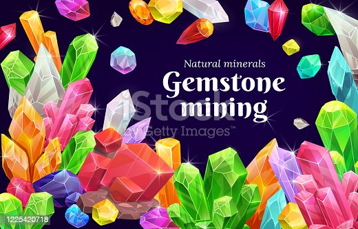istock Gemstone mining, precious gemstones and crystals 1225420718