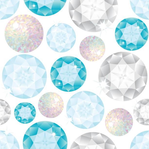 Piedras preciosas de patrones sin fisuras. Ilustración de vector. - ilustración de arte vectorial