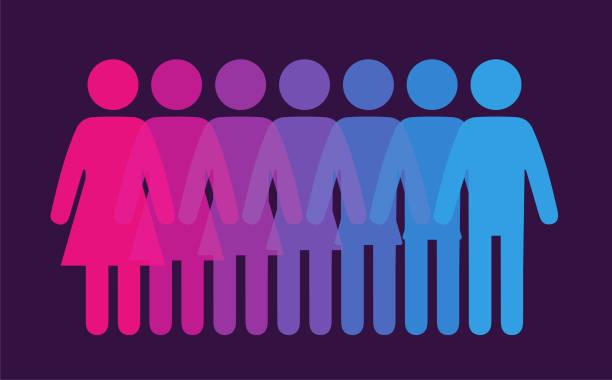geschlecht aus - genderblend stock-grafiken, -clipart, -cartoons und -symbole