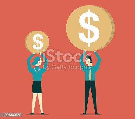 istock Gender Differences in salary 1006300630