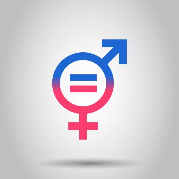 Gender equal icon. Vector illustration on isolated background. Business concept men and women pictogram. Gender equal icon. Vector illustration on isolated background. Business concept men and women pictogram. equality stock illustrations