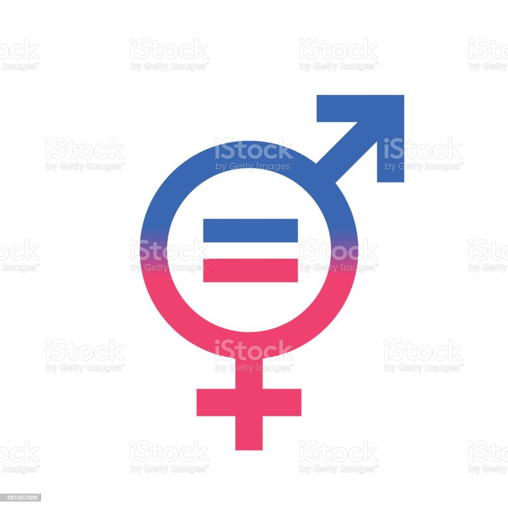 Gender equal sign vector icon. vector art illustration